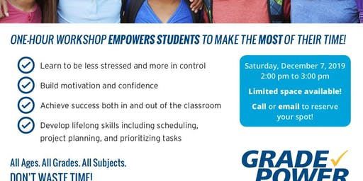 Free Time Management Workshop -7th and 8th Graders