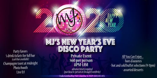 MJ's Grill New Year's Eve Disco Party