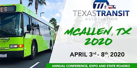 Texas Transit Association Exhibitor & Sponsorship Opportunities 2020 tickets