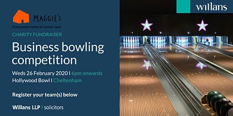Willans' business bowling in aid of charity, Maggie's Cheltenham - SOLD OUT! tickets