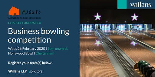 Willans' business bowling in aid of charity, Maggie's Cheltenham