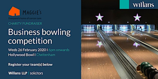 Willans' business bowling in aid of charity, Maggie's Cheltenham - SOLD OUT!