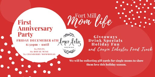 Fort Mill Mom Life 1 year anniversary