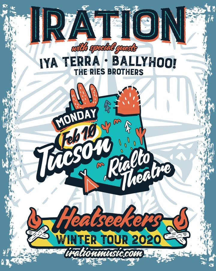 Mt Lemmon Special Events 2020.Iration Heatseekers Winter Tour Tickets Mon Feb 10 2020