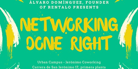 Networking Done Right entradas