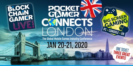 PG Connects London 2020 + Blockchain Gamer LIVE! + Big Screen Gaming tickets