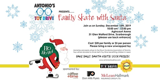 Antonio's Toy Drive Family Skate with Santa