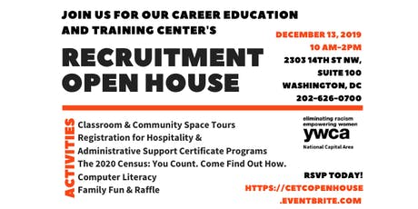 YWCA NCA's Career Education and Training Center Recruitment Open House tickets