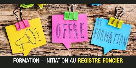 Formation - Initiation au Registre foncier billets