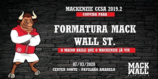 Baile de Formatura MACK CCSA 2019.2
