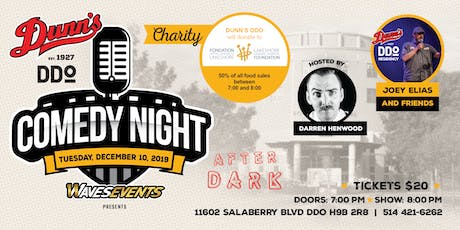 CHARITY Comedy Night at Dunn's DDO: Joey Elias & Friends tickets
