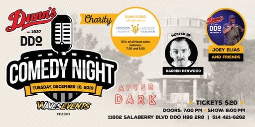 CHARITY Comedy Night at Dunn's DDO: Joey Elias & Friends