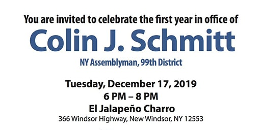 First Year Celebration Fundraiser: Assemblyman Colin Schmitt