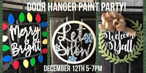 Door Hanger Paint Party
