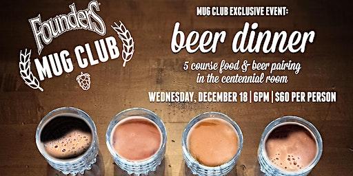 Mug Club Beer Dinner