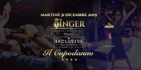 CAPODANNO @ THE SINGER MILANO (Gran Buffet/Cenone con Cabaret/Disco) ✆3491397993 biglietti