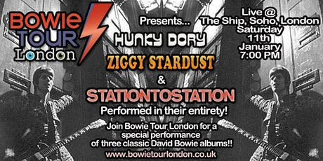Bowie Tour London presents Hunky Dory, Ziggy Stardust & Station To Station! tickets