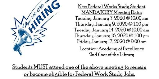 2019- 2020 SUSLA's Federal Work Study Program
