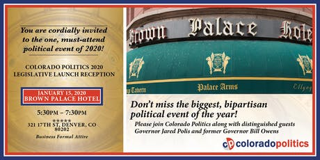 Colorado Politics Magazine's 2020 Legislative Launch Reception tickets