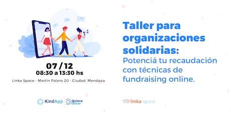 Taller para ONGs:Potencia tu recaudacion con tecnicas de fundraising online entradas