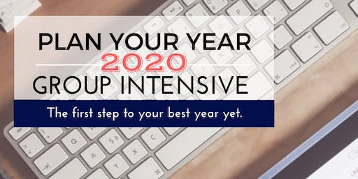 Plan Your Year Workshop- 1 Day Intensive