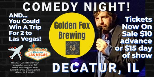 """Golden Fox Brewing presents Comedy Night with Jeremy """"JerDog"""" Danley"""