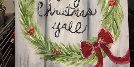 Christmas Wreath Paint Night