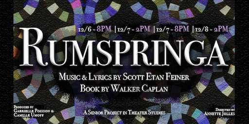 Rumspringa: Senior Project in Theater Studies for Scott Etan Feiner & Walker Caplan
