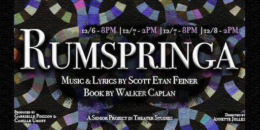 Rumspringa: Senior Project in Theater Studies for Scott Etan Feiner & Walker Caplan