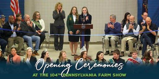 104th Pennsylvania Farm Show Opening Ceremonies