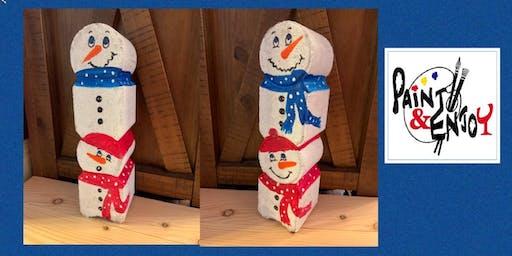 """Paint and Enjoy El Serrano -YORK """"Snowman"""" Door Stopper"""