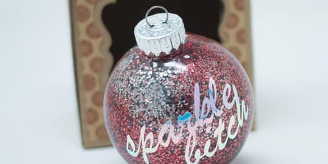 Personalised Glitter Ornament and Gift Box tickets