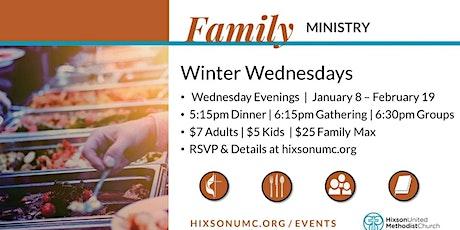 Winter Wednesdays Dinner tickets