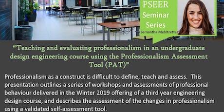 PSEER Seminar Series - Dec 12, 2019 tickets