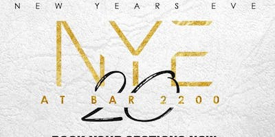 NEW YEARS EVE 2020 @ BAR 2200 | FREE ENTRY ALL NIGHT WITH RSVP | $5 HAPPY HOUR DRINKS & $20 HOOKAHS BEFORE 9PM | 2 LEVELS OF ENTERTAINMENT | 2 DJS | FOR VIP SECTIONS OR MORE INFO TEXT 832.338.3829 OR VISIT @BAR2200htx on Insatgram