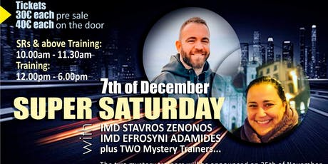 SUPER SAT WITH IMDs EFROSYNI ADAMIDES AND STAVROS  tickets