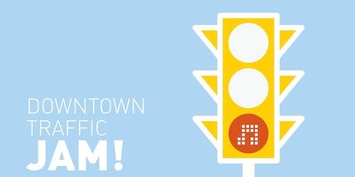 Downtown Traffic JAM!