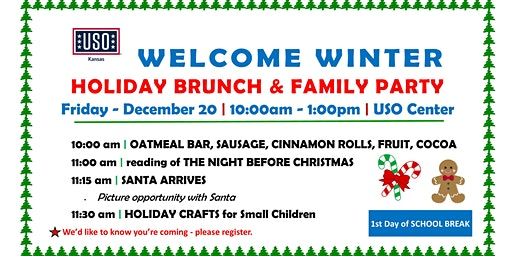 Welcome Winter HOLIDAY BRUNCH and FAMILY PARTY
