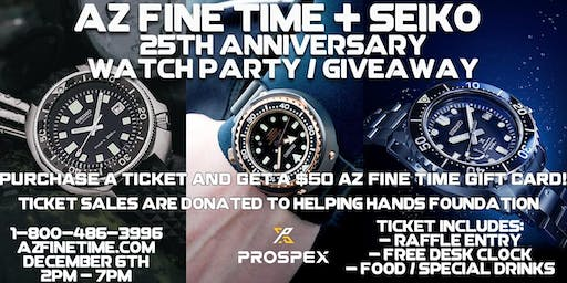 Seiko 25th Anniversary Watch Party In Store Giveaway Free Food
