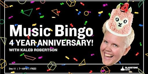 Music Bingo: 4 Year Anniversary!