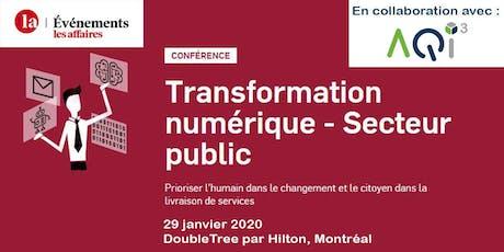 Conférence Transformation numérique - Événements Les Affaires billets
