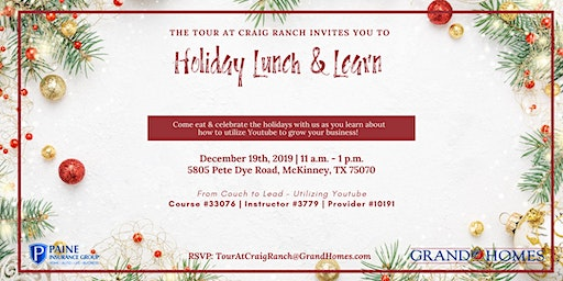 Holiday Lunch & Learn at The Tour