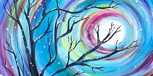 Enjoy an afternoon  with Paint and Sip to recreate this  'Winter Solstice'