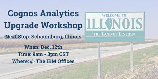 Motio Cognos Analytics Upgrade Workshop - Live in Schaumburg