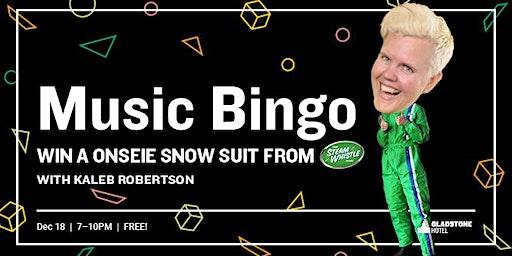 Music Bingo: Win a Onesie Snowsuit w/ Steam Whistle!