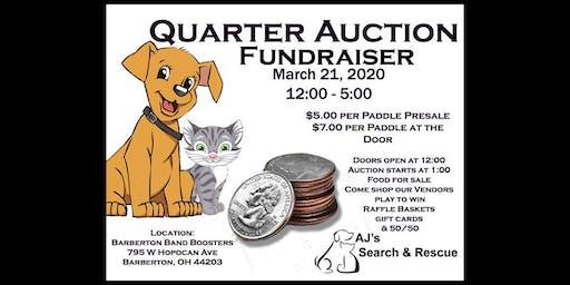 AJ's Search and Rescue Quarter Auction Fundraiser