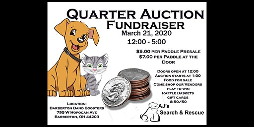 AJ's Search and Rescue Quarter Auction Fundraiser