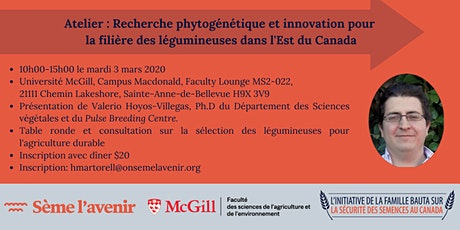 Workshop : Breeding Research and Innovation for the Pulse Sector in Quebec billets