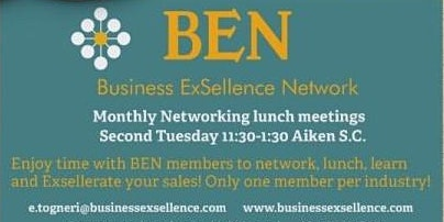 Business ExSellence Network (BEN) Aiken SC Monthly Lunch