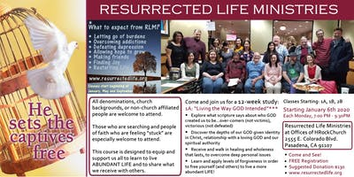 Resurrected Life Ministries Classes 1A, 1B, 2B